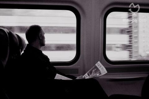 Un viaggiatore sul treno